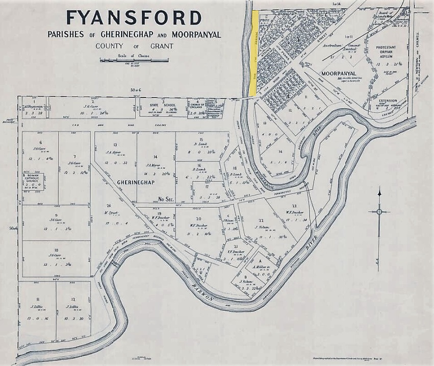 1931 Fyansford Map