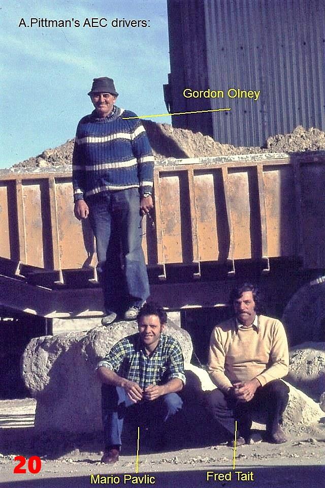 20 1981 AEC drivers Gordon Olney, Mario
