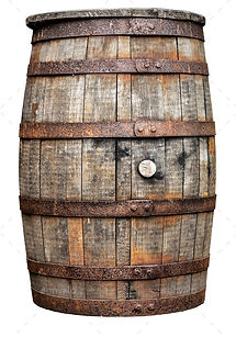 Vintage Wooden Beer Or Whiskey Barrel.jp