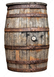 Vintage Wooden Beer Or Whiskey Barrel.jp