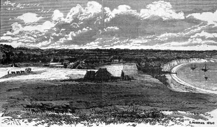 Depiction of early Geelong as a small co