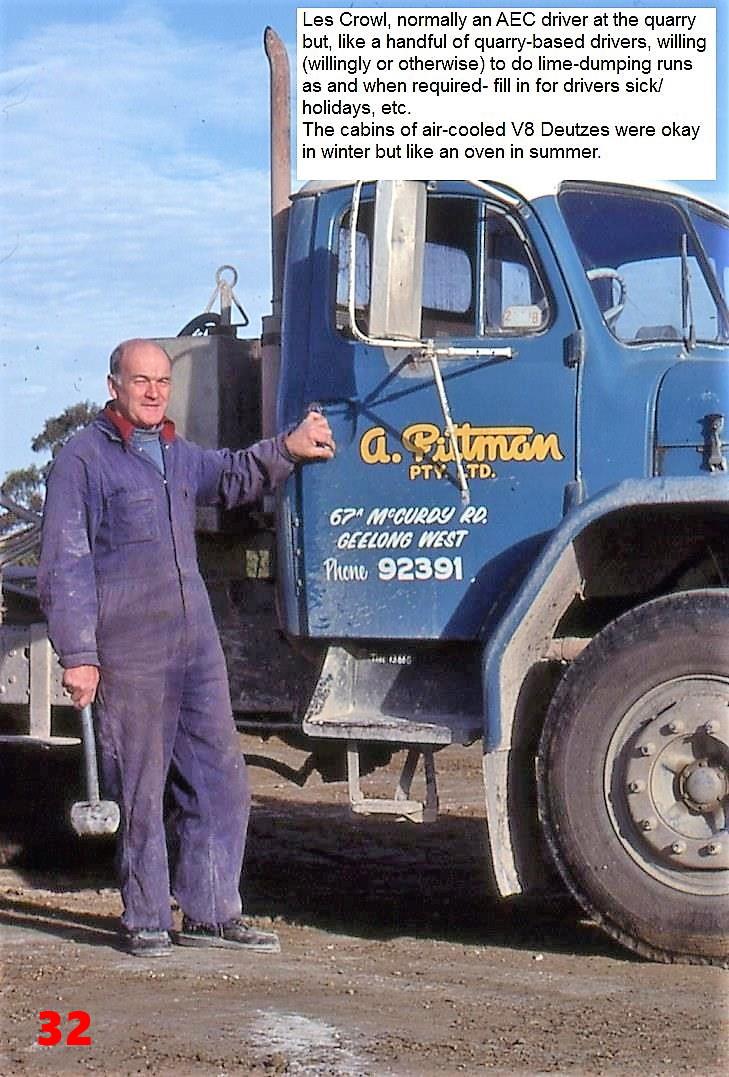 32 1981  AEC driver Les Crowl temporaril