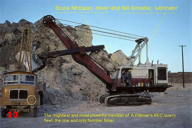 13 1981 Truck loading. Bruce McEwan at h