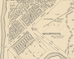 1931 Map showing streets