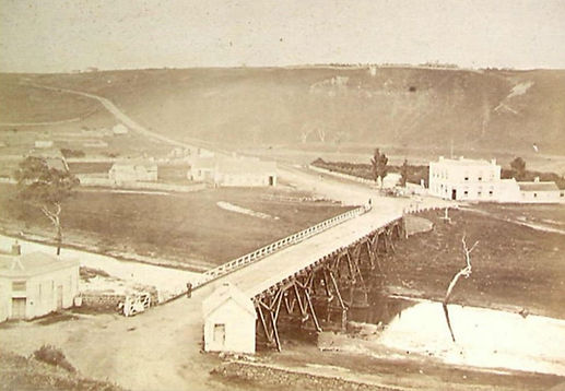 4 1866Ca Timber bridge at Fyansford, bui