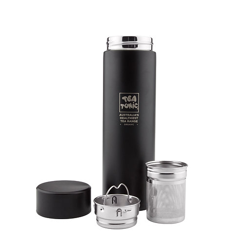 Thermal Tea Bottle with Infuser 450ml - Black