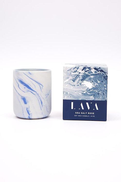 Serenity Lava Small Candle - Sea Salt Rose