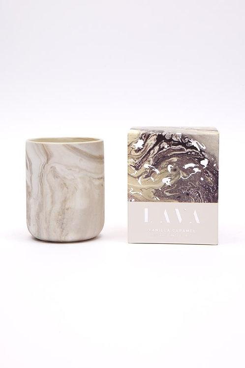 Serenity Lava Small Candle - Vanilla Carmel