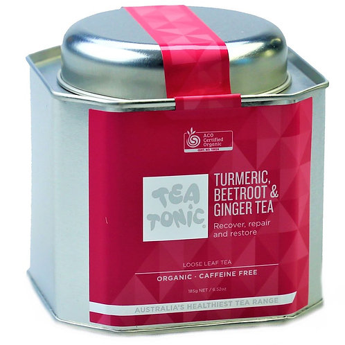 Tumeric, Beetroot & Ginger Tea Loose Leaf Tin