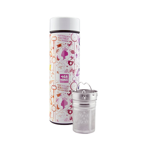 THERMAL TEA BOTTLE WITH INFUSER 450ML - RAINBOW