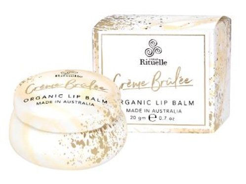 Organic Lip Balm - Creme Brulee