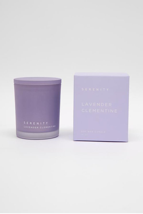 Serenity Frost Candle - Lavender Clementine