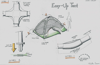 """Easy-Up"" Tent Design"