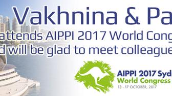 AIPPI 2017: Vakhnina&Partners will attend AIPPI World Congress in Sydney