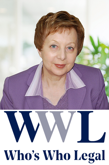 "Who's Who Legal ranking: Tatiana Vakhnina is ""highly recommended for inclusion"""