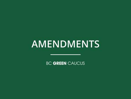 PROPOSED AMENDMENTS TO BILL 17
