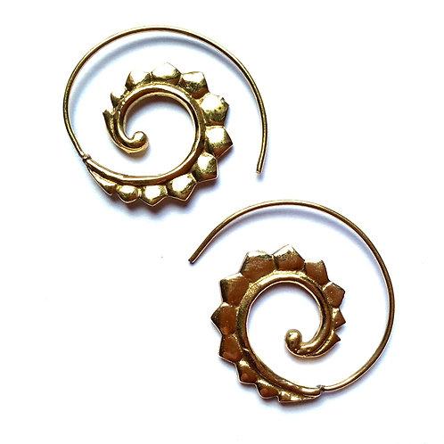 Pentagon Swirl Earrings