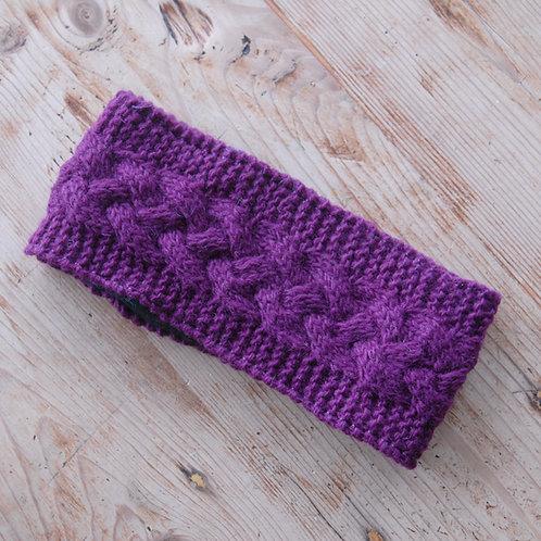 Knitted Headband Purple