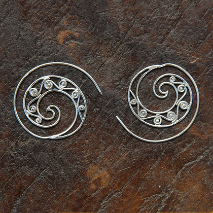 Scrolling Spiral Hoops