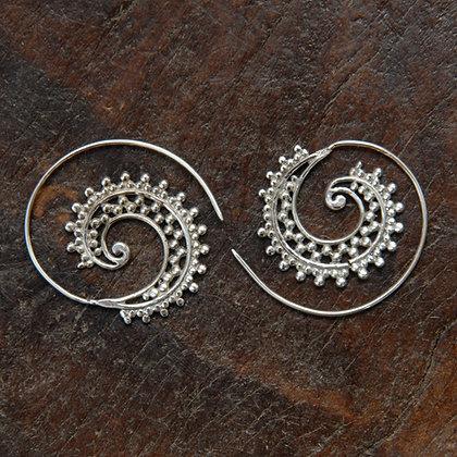 Dotty Spiral Hoops