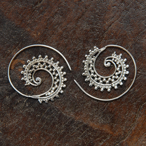 Dotty Spiral Hoops