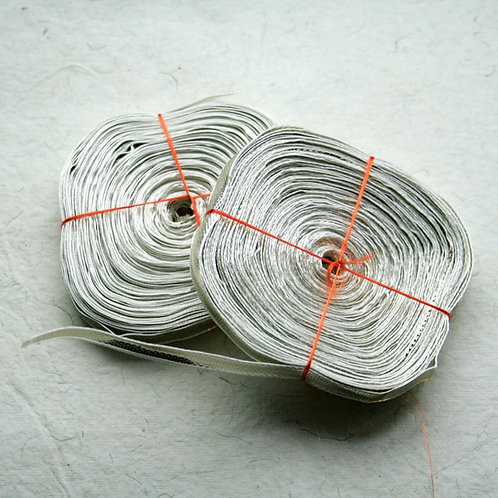Thin Silver Ghota Ribbon