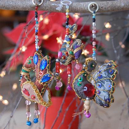 Three Bird Christmas Decoration Set