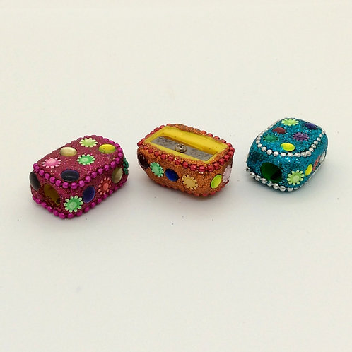 Sparkly Pencil Sharpeners - Pack of Three