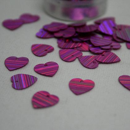 Pink Heart Sequins