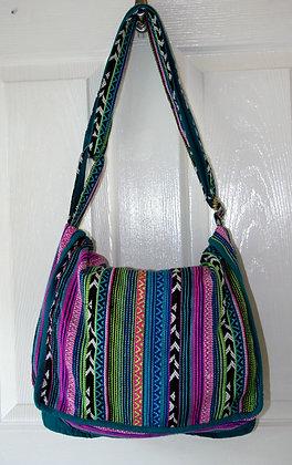 Blue and Purple Aztec Shoulder Bag