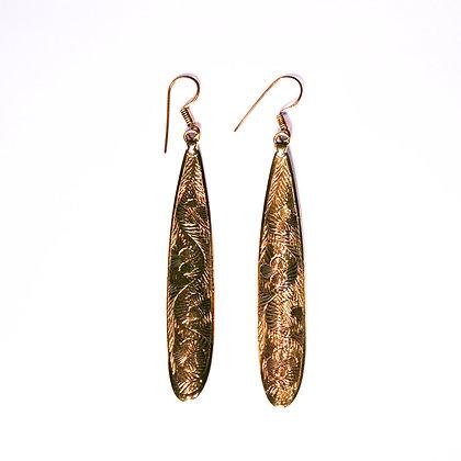 Engraved Drop Earrings