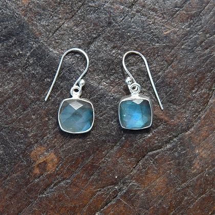 Square Labradorite Earrings