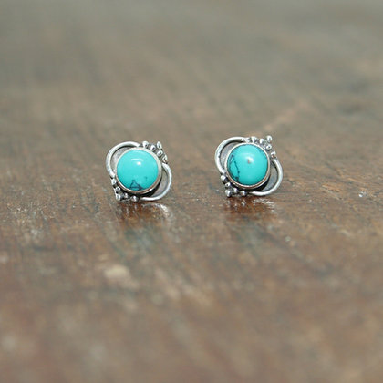 Detailed Turquoise Studs