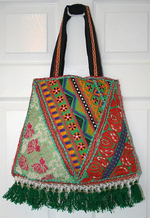 Green Patchwork Bell Bag