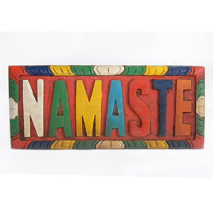 Hand Painted Wooden Namaste Sign