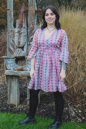 Dusty Pink Brocade Dress
