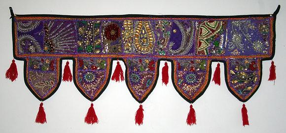 Sparkly Purple Patchwork Toran with Tassels