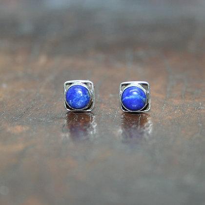 Square Lapis Lazuli Studs