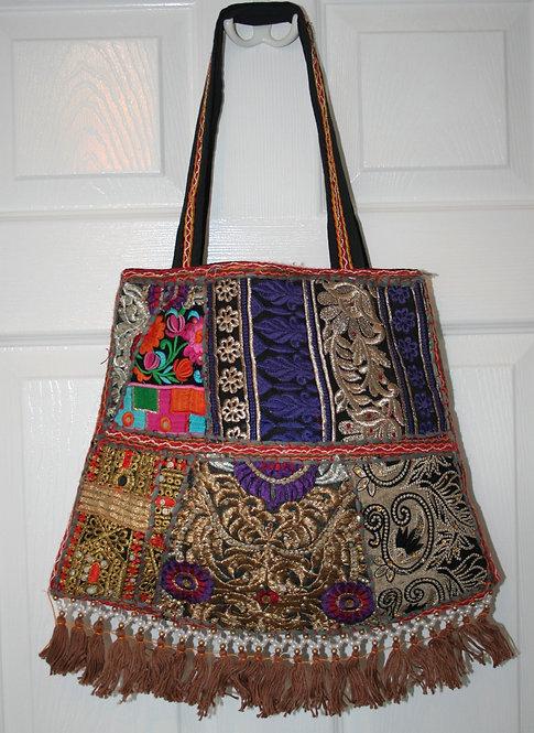 Black Patchwork Bell Bag
