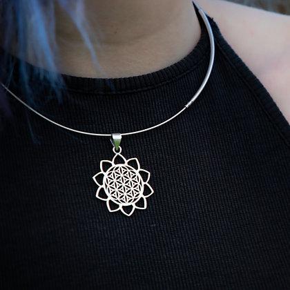 Flower of Life Mandala Pendant with Triangular Edges