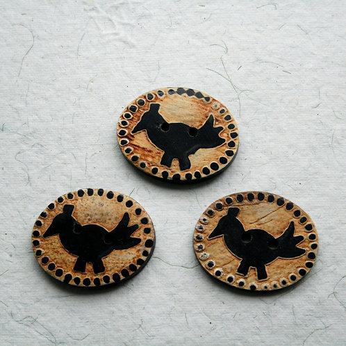 Bird Buttons (pack of 3)