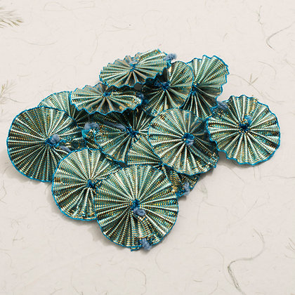Pleated Ribbon in Turquoise