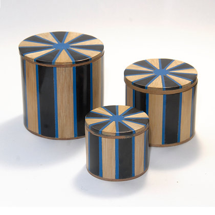 Nested Wooden Inlay Boxes