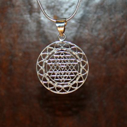 Triangular Heart Mandala Pendant Small