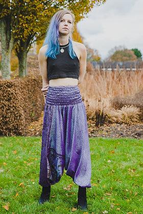 Purple Upcycled Harem Trousers