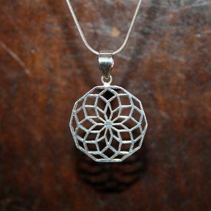 Decagon Flower of Life Mandala Pendant