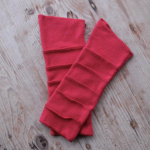 Fleece Wrist Warmers Red