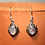 Thumbnail: Rainbow Moonstone Earrings with Dotty Silver Detail