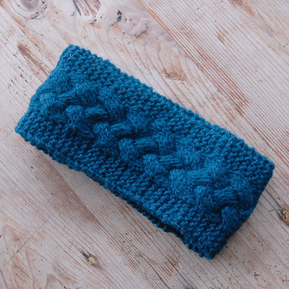 Knitted Woollen Headband Teal