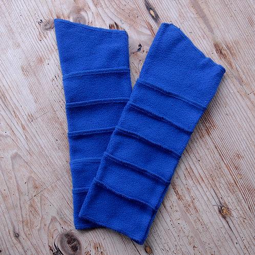 Fleece Wrist Warmers Blue